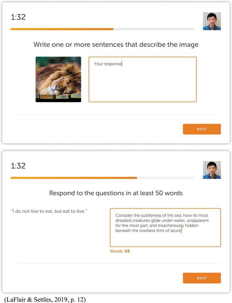 بخش Writing طولانی در آزمون زبان دولینگو